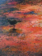 Impressionistic Landscape Drawings - Sandpiper Cape May by Eric  Schiabor