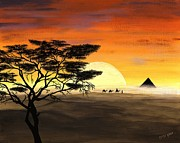 Pyramid Paintings - Sands of Time  by Denise Peat