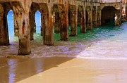 Pilings Prints - SANDS of TIME Print by Karen Wiles