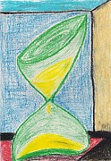 Time Pastels Posters - Sands of Time Poster by Parijat Bhattacharjee