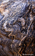 Bowing Framed Prints - Sandstone Boulder Detail Framed Print by Barbara Snyder