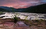 Beckley Wv Photographer Prints - Sandstone Falls in Spring Print by Lj Lambert