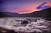 Beckley Wv Photographer Prints - Sandstone Falls Print by Lj Lambert