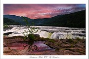 Fushia Framed Prints - Sandstone Falls Sunset Framed Print by Lj Lambert