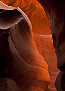 Desert Metal Prints - Sandstone Split Metal Print by Mike  Dawson