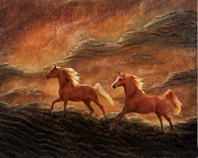 Beautiful Manes Prints - Sandstone Sunset Print by Melinda Hughes-Berland