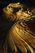 Buttes Photo Prints - Sandstone Swirls Print by Joseph Rossbach