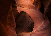 Desert Metal Prints - Sandstone Window Metal Print by Mike  Dawson