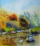 Sandwich Paintings - Sandwich Kent the Stour by Beatrice Cloake