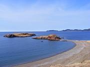 Sandy Beach - Little Island - Coastline - Seascape  Print by Barbara Griffin