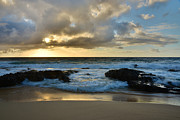 Amazing Prints - Sandy Beach Sunrise 4 - Oahu Hawaii Print by Brian Harig