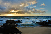 Lava Rock Prints - Sandy Beach Sunrise 5 - Oahu Hawaii Print by Brian Harig