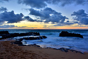 Lava Rock Prints - Sandy Beach Sunrise 6 - Oahu Hawaii Print by Brian Harig