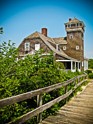 Saving Prints - Sandy Hook Life Saving Station Print by Colleen Kammerer