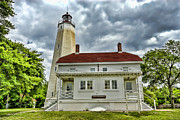 Lamdscape Prints - Sandy Hook Lighthouse  Print by Geri Scull