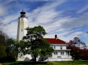American Lighthouses Photo Posters - Sandy Hook Lighthouse Nj Poster by Skip Willits