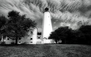 Photos Of Lighthouses Photo Posters - Sandy Hook Lighthouse Poster by Skip Willits