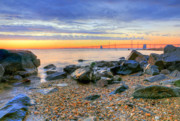 Chesapeake Bay Bridge Framed Prints - Sandy Framed Print by JC Findley