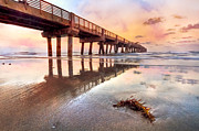 Florida Bridges Prints - Sandy Mirror Print by Debra and Dave Vanderlaan