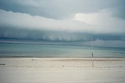 Cloud Tapestries - Textiles Prints - Sandy Neck Beach Sandwich Print by Lisa  Marie Germaine