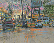 Car Pastels Prints - Sandy Plains Crossing Print by Donald Maier
