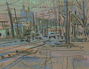 Traffic Drawings Prints - Sandy Plains Road Print by Donald Maier