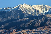 Great Sand Dunes National Park Photos - Sangre de Cristo Mountains by Adam Jewell