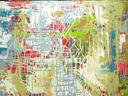 Mapping Paintings - Sangre Grande by Shelley Heffler