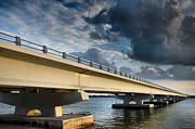Florida Bridge Photos - Sanibel Causeway I by Steven Ainsworth