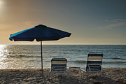 Beach Umbrella Posters - Sanibel Ease I Poster by Steven Ainsworth
