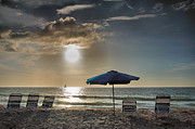 Beach Umbrella Posters - Sanibel Ease II Poster by Steven Ainsworth