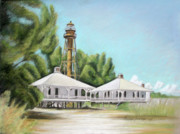 Sanibel Lighthouse Print by Melinda Saminski
