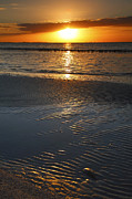 Framed Beach Print Photos - Sanibel Sunrise X by Steven Ainsworth