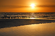 Framed Beach Print Photos - Sanibel Sunrise XI by Steven Ainsworth