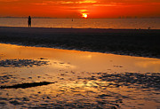 Framed Beach Print Photos - Sanibel Sunrise XVIII by Steven Ainsworth