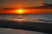 Framed Beach Print Photos - Sanibel Sunrise XXIV by Steven Ainsworth