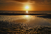 Framed Beach Print Photos - Sanibel Sunrise XXV by Steven Ainsworth