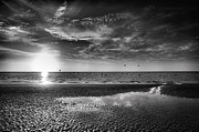 Framed Beach Print Photos - Sanibel Sunrise XXVII by Steven Ainsworth