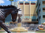 Race Horse Photos - Santa Anita Race Track Entrance by Robert Birkenes
