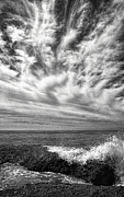 Horizon Line Digital Art - Santa Barbara Beach Clouds by Ron Regalado