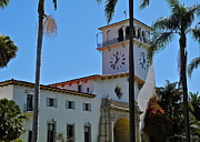 Kirsten Giving Prints - Santa Barbara County Courthouse Print by Kirsten Giving