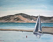 Lifestyle Painting Originals - Santa Barbara Sailing by Ian Donley