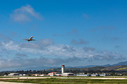 American Airlines Prints - Santa Barbara Takeoff Print by John Daly