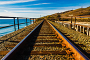 Santa Barbara Train Tracks Print by Michael Walborn