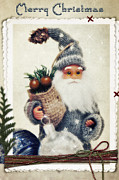Claus Mixed Media Posters - Santa Claus Poster by Angela Doelling AD DESIGN Photo and PhotoArt
