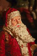 Santa Claus - Antique Ornament - 01 Print by Jill Reger