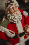 Santa Claus Photo Prints - Santa Claus - Antique Ornament - 02 Print by Jill Reger