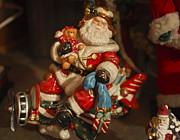 Santa Claus Metal Prints - Santa Claus - Antique Ornament -05 Metal Print by Jill Reger