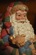 Santa Claus Photo Prints - Santa Claus - Antique Ornament - 09 Print by Jill Reger