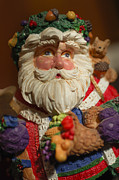 Santa Claus Photo Prints - Santa Claus - Antique Ornament - 20 Print by Jill Reger